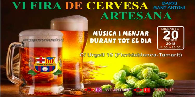 Feria de cerveza artesana del barrio de Sant Antoni